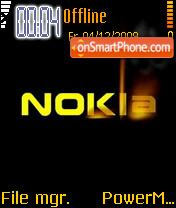 Nokia Gold theme screenshot