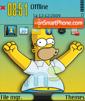 Homer simpson 10 theme screenshot