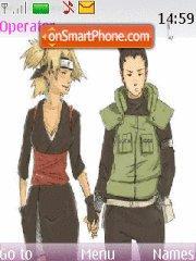 Temari and Shikamaru theme screenshot