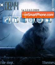 Moon cat-240x320 theme screenshot