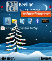 Holy Night theme screenshot