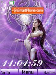 Purple fairy animated theme screenshot