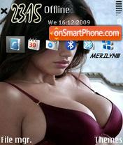 Скриншот темы Adriana Lima 09