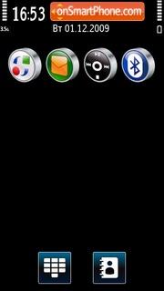 Black & Blue 02 tema screenshot