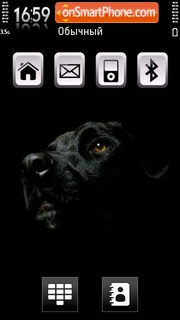 Black Labrador theme screenshot