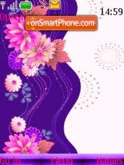 Vector Flowers theme screenshot
