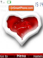 Скриншот темы Red Heart Clock