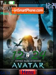 Avatar 2010 Clock tema screenshot