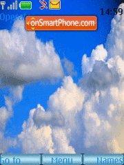Sky in clouds theme screenshot