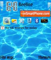 Скриншот темы Water 01