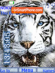 Winter Tiger tema screenshot