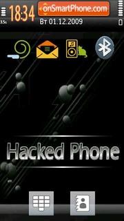 Hacked Phone theme screenshot