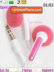 Pink Headphones Music theme screenshot