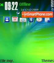 Blue feather theme screenshot