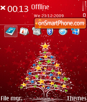 Merry Christmas 12 theme screenshot