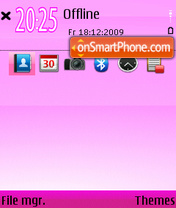 Pink World 01 theme screenshot
