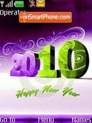 Purple New Year Pali tema screenshot