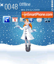Snowing theme screenshot