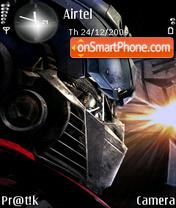 Optimus Prime es el tema de pantalla