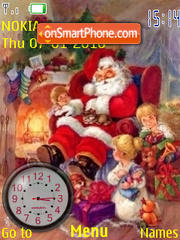Santa Claus Clock theme screenshot