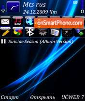 Dark blue lines by altvic theme screenshot
