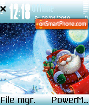 Скриншот темы Santa day 2009