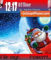 Santa night 2009 theme screenshot