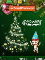 New year3 clock animated tema screenshot