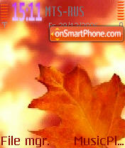 Autumn tema screenshot