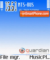 Скриншот темы Guardian Theme