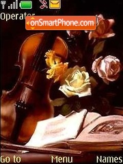 violin theme screenshot