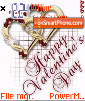 Happy valetine's day es el tema de pantalla