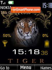 Tiger clock indicator1 theme screenshot