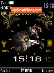 Tiger clock indicator2 analog theme screenshot