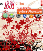 Floral 05 es el tema de pantalla