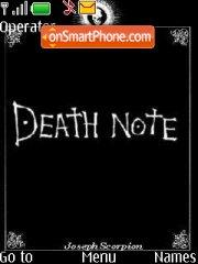 Death Note theme screenshot