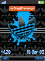 Adidas Blue Splat theme screenshot