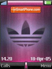 Adidas Pink theme screenshot