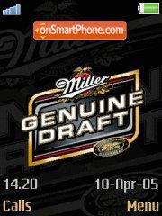 Miller Genuine Draft theme screenshot