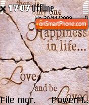 Be Loved es el tema de pantalla