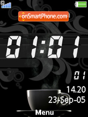 Coffee Clock tema screenshot