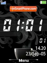 Coffee Clock es el tema de pantalla
