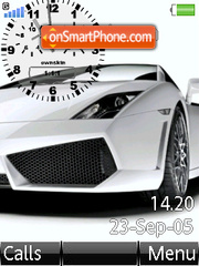 Swf Lamborghini Clock tema screenshot