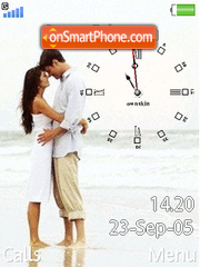 Swf Love Clock tema screenshot
