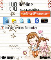 Cutelove theme screenshot