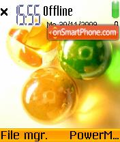 Glass Balls es el tema de pantalla