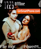 New Moon Twilight es el tema de pantalla