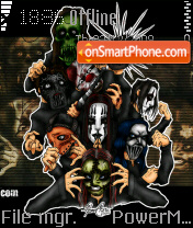 Slipknot Toons tema screenshot