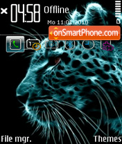 Neon Tiger (Samsung Icon) theme screenshot