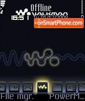 Скриншот темы Walkman With Font